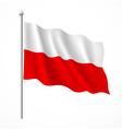 Poland flag vector image