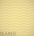 seabed beach background eps 10 sand vector image
