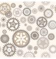 Clock cogwheels Retro Seamless pattern vector image vector image