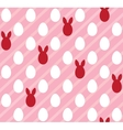 Easter eggs seamless pink texture rabbit ears vector image vector image