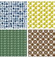 traditional print colorful seamless patterns vector image