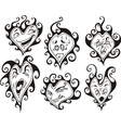 Heart shaped faces vector image