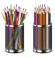 color pencils in support vector image vector image