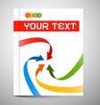 Modern Book or Brochure Cover Design - vector image