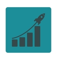 Startup sales icon vector image