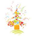 box with christmas tree vector image