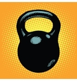 Black retro kettlebell sports equipment vector image