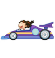 a girl driving a car vector image