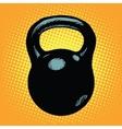 Black retro kettlebell sports equipment vector image