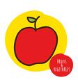 fruits cute design vector image