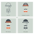 Gentleman Mask Disguise Victorian Hat Mustache Bow vector image