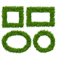 Green grass frames set vector image