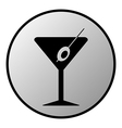 Martini glass button vector image