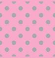 pink and gray seamless polka dot pattern vector image