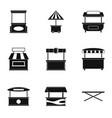 street kiosk icon set simple style vector image