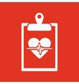 The medical report icon Medical and ambulance vector image