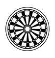 Dart board game vector image