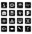 Education set icons grunge style vector image