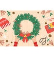 Preparing for Christmas card and Christmas decorat vector image