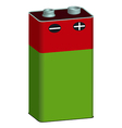 battery1 red v vector image vector image