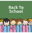 children in school vector image vector image