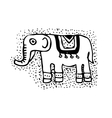 Decorative elephant silhouette African style vector image vector image