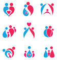 family colored set of icons vector image vector image