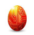 Egg connected vector image