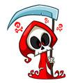 cartoon halloween grim reaper vector image