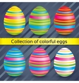 Easter colorful eggs collection set vector image