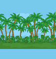 seamless palms and sky vector image