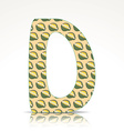 The letter D of the alphabet made of Durian vector image