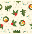 winter holidays seamless pattern vector image