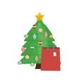 Pine tree of Merry Christmas design vector image