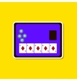 paper sticker on stylish background poker board vector image