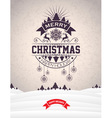 Merry Christmas design and winter landscape vector image