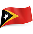 national flag of east timor black triangle with vector image vector image