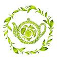decorative ornament herbal circle vector image vector image