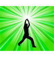 woman exercise vector image