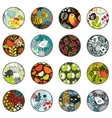 Big set of balls with print patterns vector image vector image