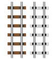 railway rails 03 vector image