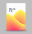 advertising brochure template vector image