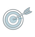 arrow hitting a target business solution concept vector image