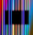 Black rectangular frame vector image