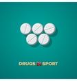 Drugs in sport vector image