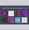 set of colorful trendy cards - art design fashion vector image