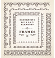 Set of Retro Vintage Frames and Borders vector image