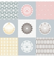 Set of round shapes and icons on backgrounds with vector image