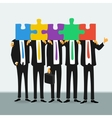 Team of successful business people vector image