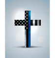 Police Flag Cross vector image